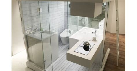 Banheiro Compacto Para Apartamentos Pequenos
