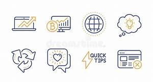 Quickstart Guide  Pyramid Chart And Messenger Icons Set