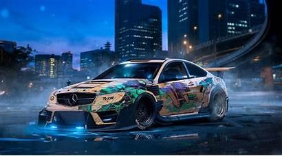 Drift Mercedes Wallpapers Cars Benz Custom Modified