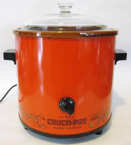 vintage rival crock pot cooker orange color working vintage rival crock pot cooker model 3100 2 3 5 qt
