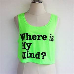 NEON Light Green Crop Tank Top Sleeveless Green Crop