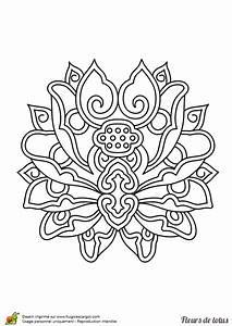 Dessin Fleurs De Lotus : coloriage fleur de lotus inde sur ~ Dode.kayakingforconservation.com Idées de Décoration