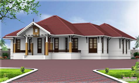 one floor homes single homes single storey kerala home design at