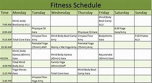 Work Out Schedule Template Beautiful 9 Free Fitness Schedule Templates In Ms Word And Ms Excel