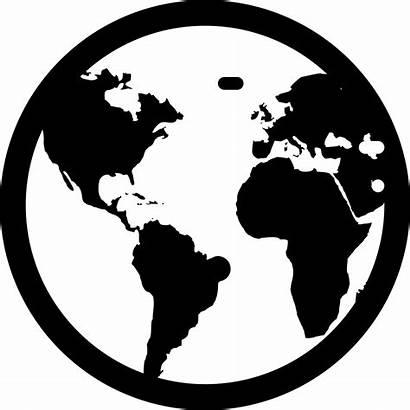 Globe Icon Earth Svg Silhouette Vector Clipart