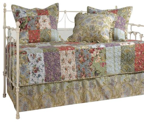 shabby chic daybed bedding greenland home blooming prairie daybed set 5 piece daybed shabby chic quilts and quilt sets