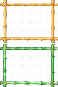 Yellow and green bamboo frames, 19352, Borders and Frames ...