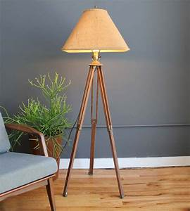 Surveyor tripod lamp lighting and ceiling fans for Surveyors floor lamp wood
