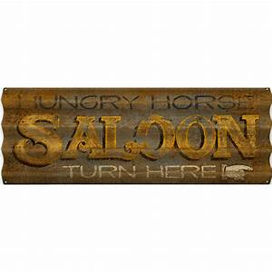 Rustic, Saloon, Personalized, Corrugated, Metal, Sign