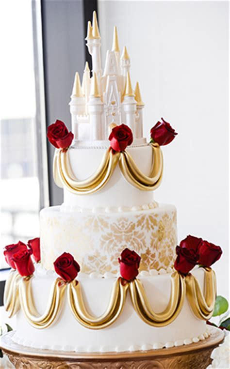 Wedding Cake Wednesday: Beauty and the Beast Roses