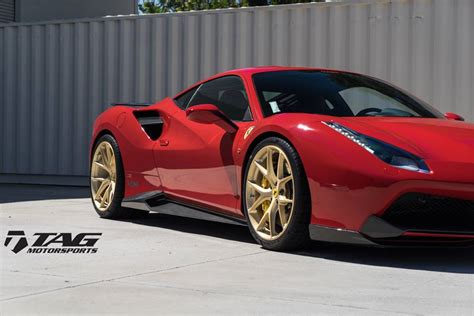 gold ferrari novitec ferrari 488 gtb on gold wheels