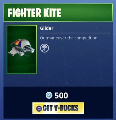fortnite fighter kite gliders fortnite skins