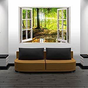 Fototapete Fenster Aussicht : murando 3d wall illusion 140x100 cm wallpaper mural ~ Michelbontemps.com Haus und Dekorationen