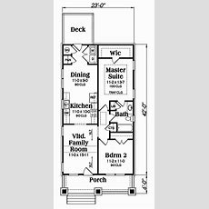 Bungalow House Plan #1041195 2 Bedrm, 966 Sq Ft Home