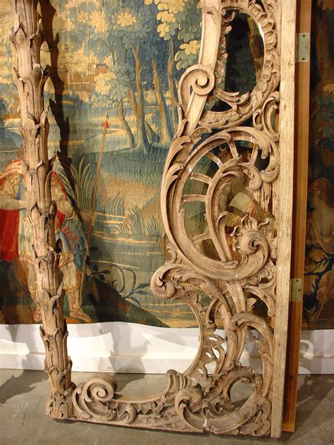 rare pair  carved antique french walnut wood rococo