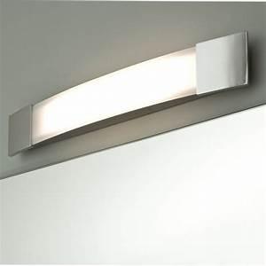 Bad Und Spiegelleuchten : ansprechende spiegel lampe f rs bad in chrom ip44 bow plus ~ Michelbontemps.com Haus und Dekorationen