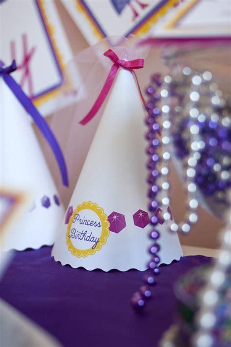 princess printable birthday party paper  cake paper