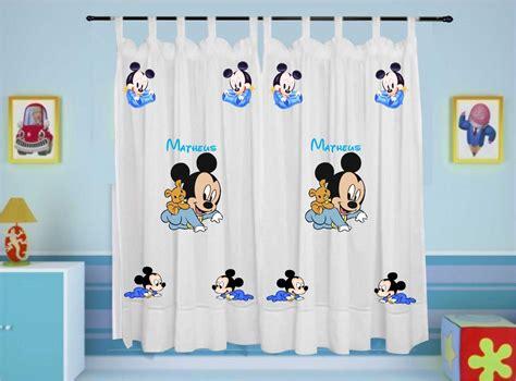 cortinas mickey cortina mickey baby disney infantil personalizada nome