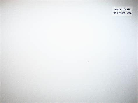 no blah blah » Blog Archive » White Sticker on a White Wall