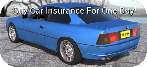 Car Insurance One Day Car Insurance For Visitors Or Non