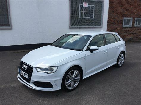 audi a3 sline 2015 65 audi a3 s line 2 0 tdi s auto 5 door white damaged salvage repairable in walthamstow