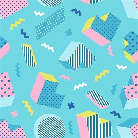 Abstract Wallpaper Design For School by Seamless Colorful School Geometric Blue Background