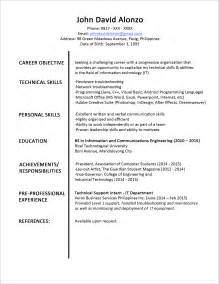 resume format for fresh graduates sle resume format for fresh graduates one page format jobstreet philippines