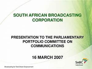 PPT - SOUTH AFRICAN BROADCASTING CORPORATION PRESENTATION ...