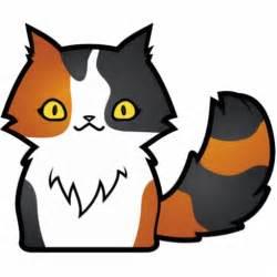 Cartoon Calico Cat Long Hair
