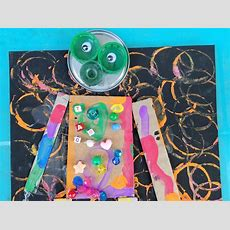 Recycled Robot Art To Teach Shapes To Kids! The