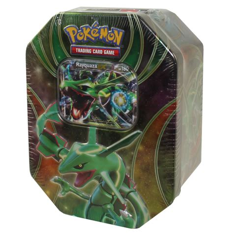 Rayquaza Ex Deck Tin Gift Pack by Xy 2015 Collectors Tin Set Powers Beyond