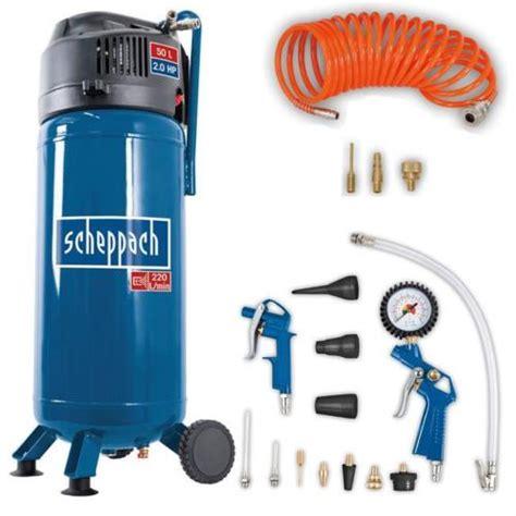 scheppach kompressor hc51v scheppach 50 liter kompressor hc51v 18tlg druckluft set f 252 r 125 10 statt 175
