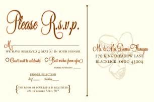 Wedding RSVP Wording Template