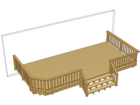 menards free deck plans 24 x 12 deck w wide stairs at menards home