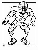Football Coloring Pages Player Activities sketch template