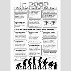 English Worksheet Writingdiscussion Prompts, Predictions For 2050, Future Will Form Extra