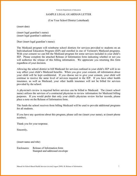 guardianship letter samples sales slip template