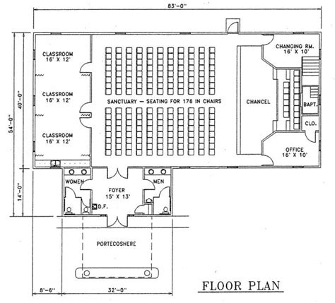 small church floor plans church plan 127 lth steel structures