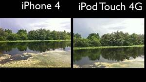 iPod Touch 4G Camera vs. iPhone 4 Camera - YouTube
