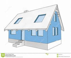 Diagram Icon Building Facade Of House Stock Images