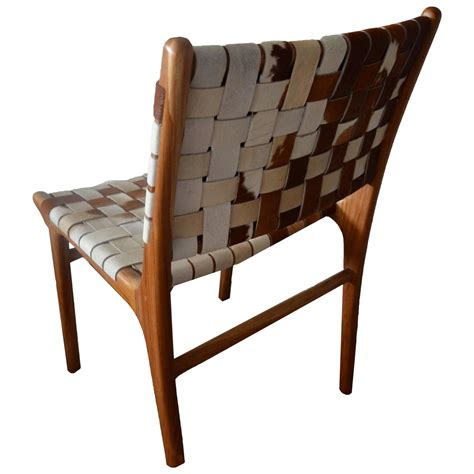 premium backed cowhide chair for sale at 1stdibs