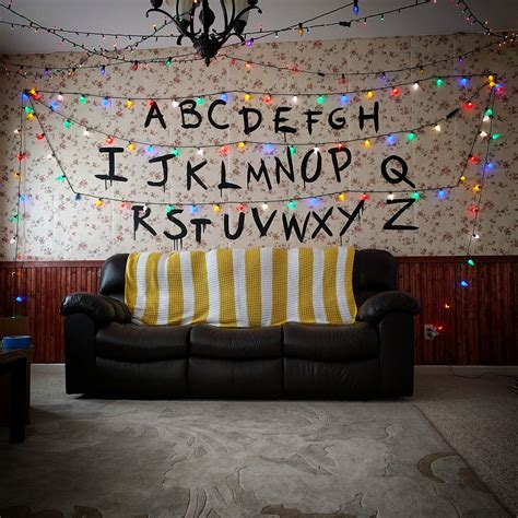 stranger  living room decor   halloween