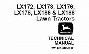 John Deere Lx172  Lx173  Lx176  Lx178  Lx186  Lx188 Lawn