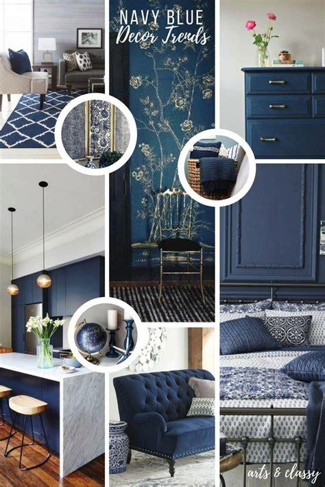 decor hacks navy blue interior decor trends