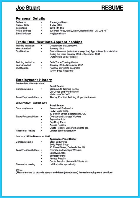 Entry Level Mechanic Resume by Writing Your Great Automotive Technician Resume