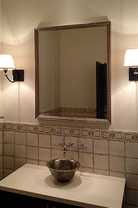 Custom Framed Mirrors For Bathrooms by Shop Framed Wall Mirrors And Framed Bathroom Mirrors In