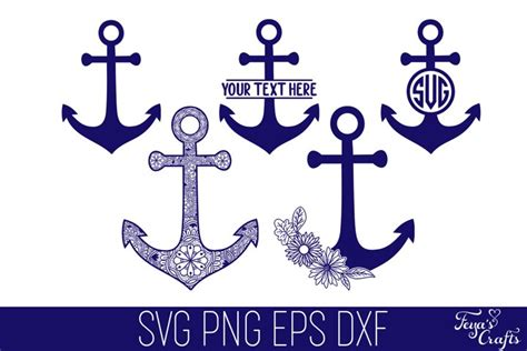 anchor svg cut files pack mandala anchor floral anchor  cut files design bundles
