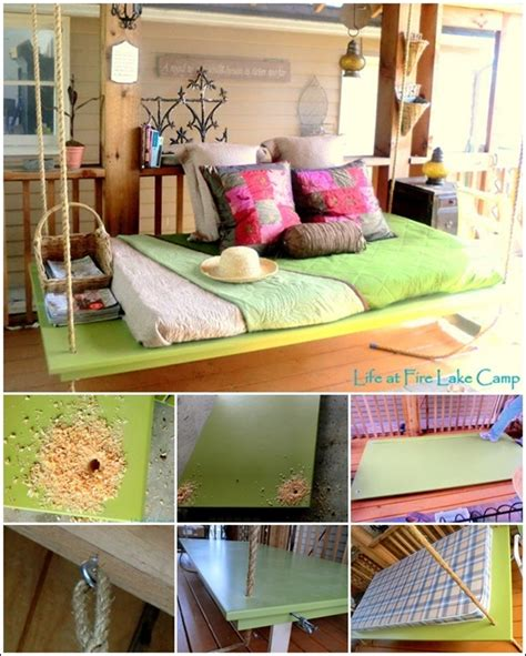 diy outdoor hanging bed diy hanging mattress for your porch house interior designs