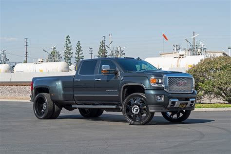 dub magazine gmc sierra denali dually on forgiatos
