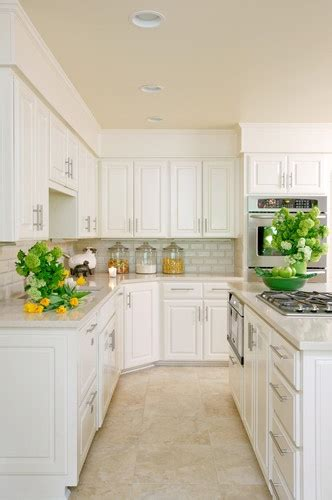 white kitchen cabinets beige countertop 15 best images about tile floors on kitchen 1787